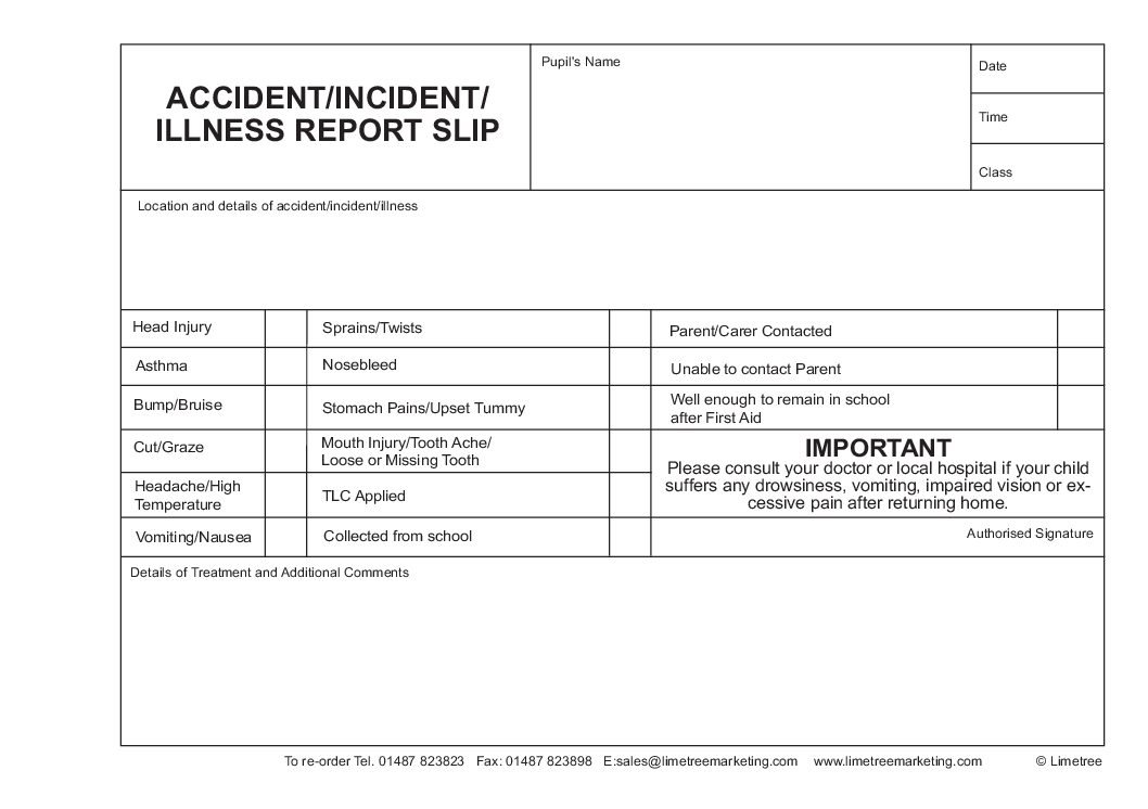 A5 Standard Accident Book LTM517